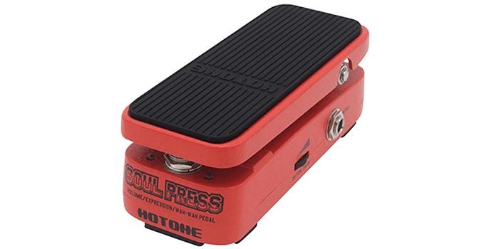 Hotone Soul Press Mini Volume Wah Expression Effects Pedal
