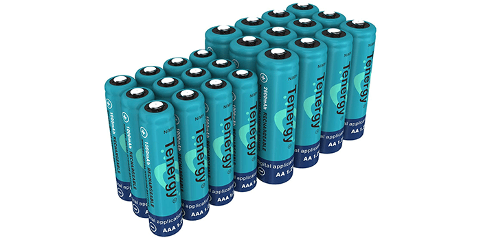 Tenergy High Drain AA and AAA Batteries