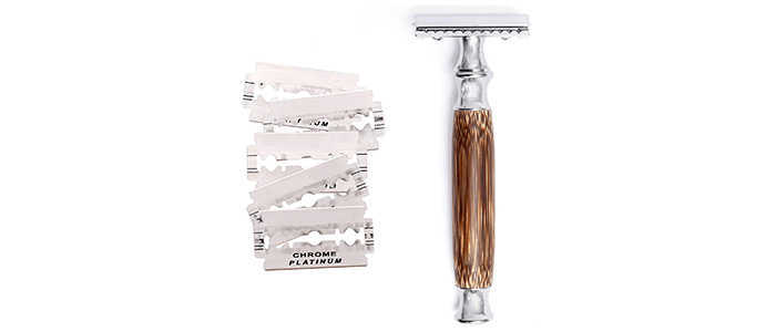 Wowe Double Edged Safety Razor with Blades